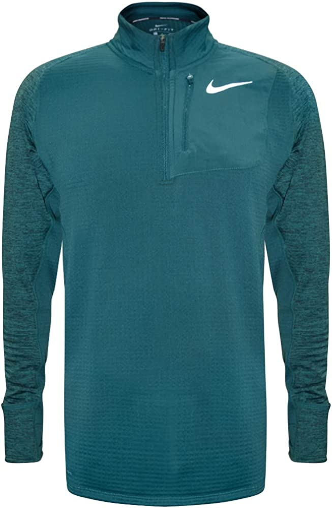 7bfb56d5 Nike Therma Sphere Element Men's Long Sleeve Half-Zip Running Top (Emerald  Green,