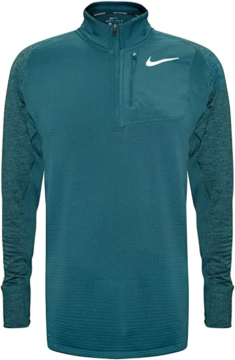 532f3e662726 Nike Therma Sphere Element Men s Long Sleeve Half-Zip Running Top (Emerald  Green