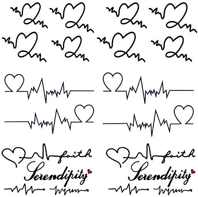 Yesallwsa Lindo Tatuaje Temporal Letras De Letras Amor Latido Del ...