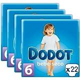 Pañales DODOT Talla 6 88 unidades (4 paquetes de 22 pañales) (13+