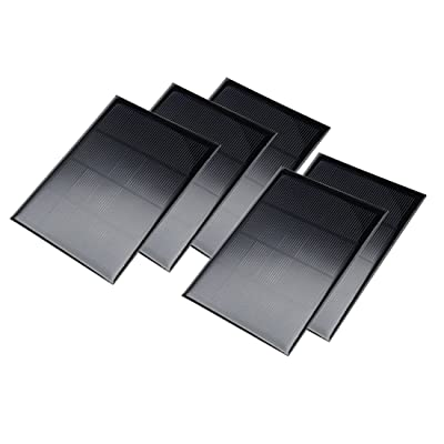 uxcell 5Pcs 5V 300mA Poly Mini Solar Cell Panel Module DIY for Light Toys Charger 104mm x 140mm: Automotive