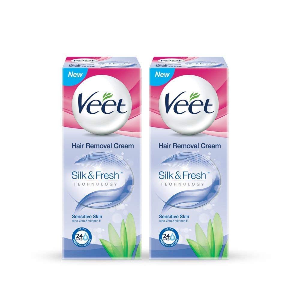 Pack of 2 - Veet Hair Removal Cream - 50 g (Sensitive Skin)