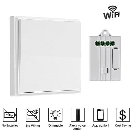 KOBWA Wireless Lights Switch Kit, No Battery No Wiring, Lights Switch on