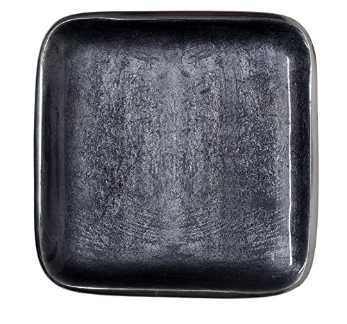 (Melange Home Decor Square Tray Platter 8.25-inch Bowl, Color - Dark)