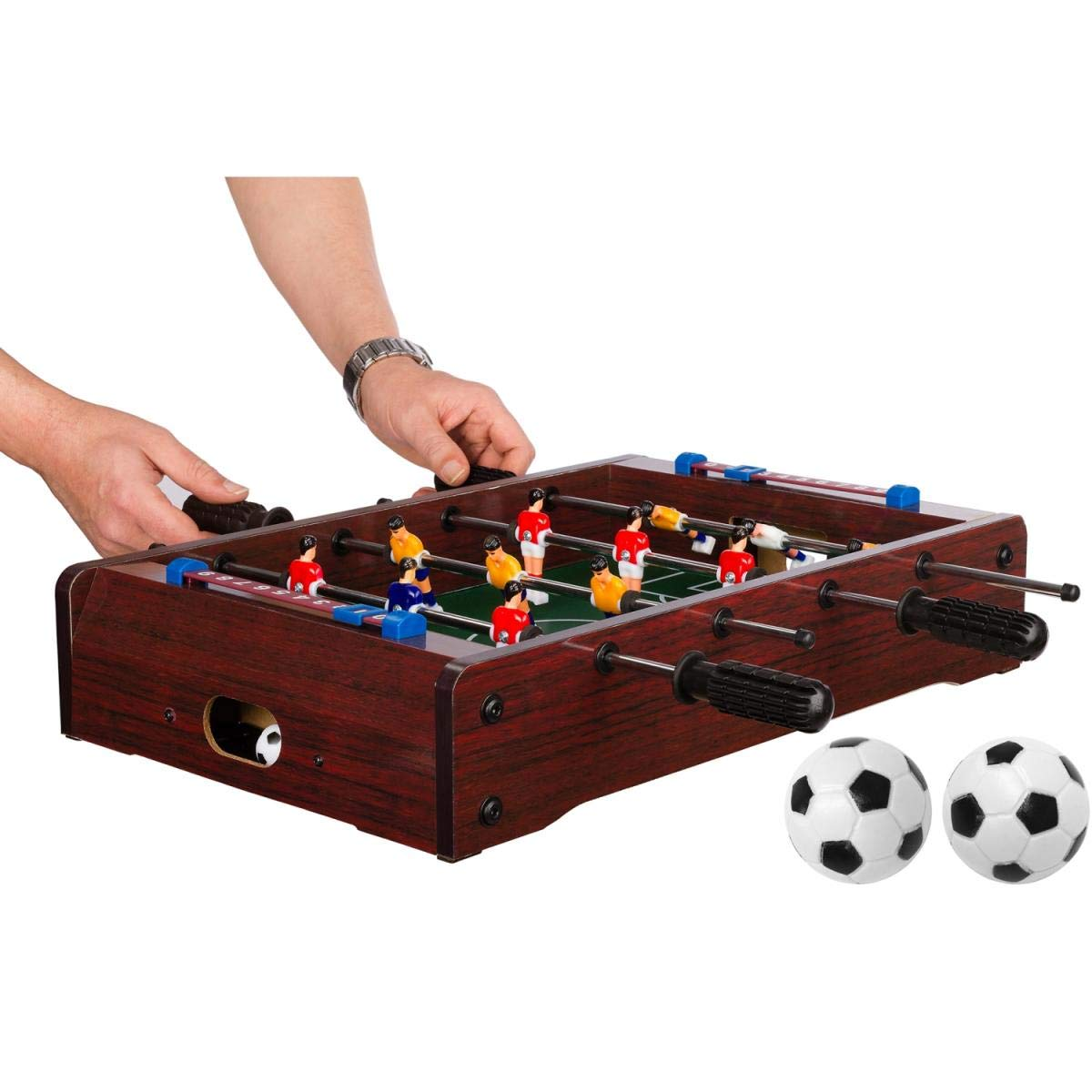 dimensions: 51/x 31/x 8/cm 3/d/écor variantes de jeu avec 2/balles poids: 2,6/kg Mini table Football 4/barres