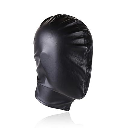 Máscara De Cuero Fetish SM Sex Game Black