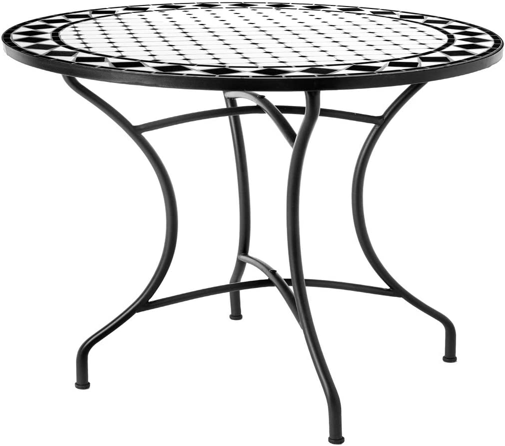Mesa de jardín para Comedor de cerámica Negra Garden - LOLAhome