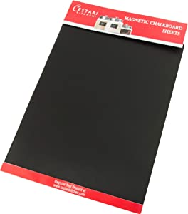 Extra Large Chalkboard Labels - Erasable Decorative Magnetic Chalkboard Tiles - Set of 2 Reusable Chalkboard Sticker Magnet Paper- Cut Adhesive Sheets to Make any Surface a Magnetic Chalk Board!