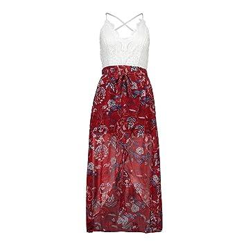 uface gasa vestido con punta costuras sin espalda vestido largo inferior V de recorte alta cintura