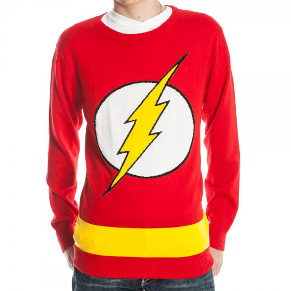 precio razonable DC Comics Flash Logo rojo Knit Adult Sweater Large Large Large  venta