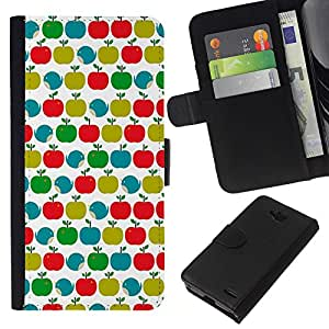 All Phone Most Case / Oferta Especial Cáscara Funda de cuero Monedero Cubierta de proteccion Caso / Wallet Case for LG OPTIMUS L90 // Pattern Teal Green Red White Clean