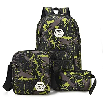 ZWS excelente Interfaz USB De Carga Mochila Bolsa De Hombro - Travel Backpack - Junior High School Student Bolsa,Fruta Verde: Amazon.es: Deportes y aire ...