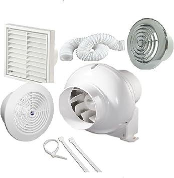 Kit de ventilador de baño con ventilador de techo con temporizador ...