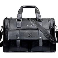 YongBe Uomo Borse Settore della Pelle per Gli Uomini Vintage Classic 15 inch Laptop Shoulder Bag Messenger Shopping Lavoro D'ufficio Multifunzione Regolabile Borsa Portatile
