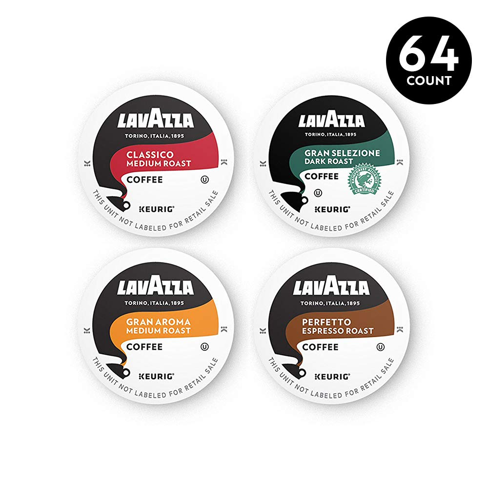 Lavazza Coffee K-Cup Pods Variety Pack for Keurig Single-Serve Coffee Brewers, 64 Count