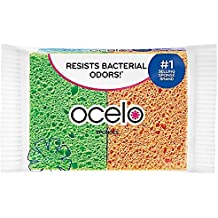 O-Cel-O Cellulose Sponges, Assorted Colors 4 ea (Pack of 3)