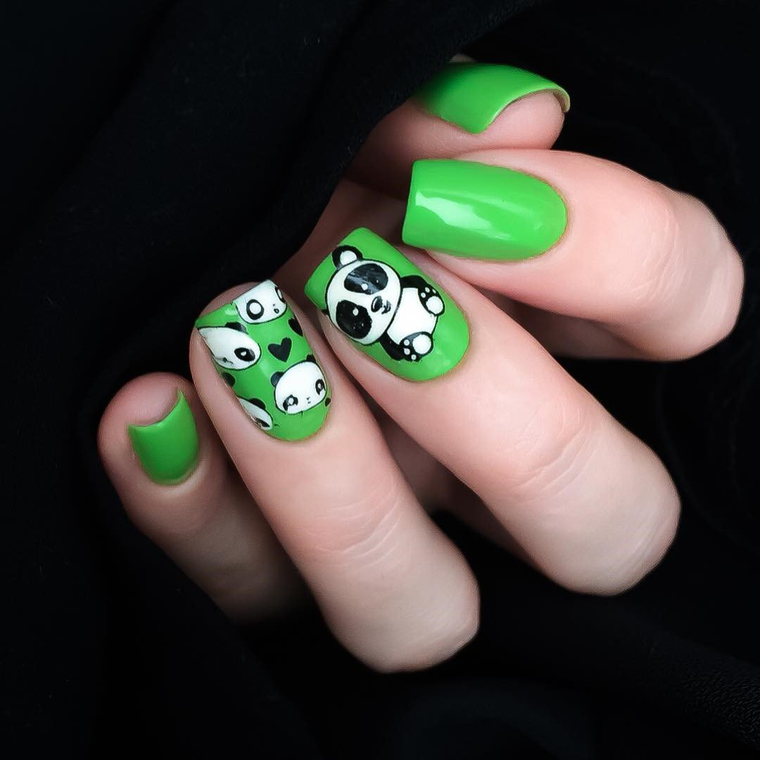 Born Pretty 1 Pc Stamping Plate Cute Panda Rectangle Manicure Nail ...