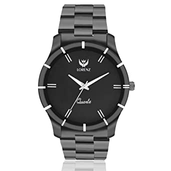 19d78778c2d6 Buy LORENZ Analogue Black Dial Men s Watch - Mk-1062A Online at Low Prices  in India - Amazon.in