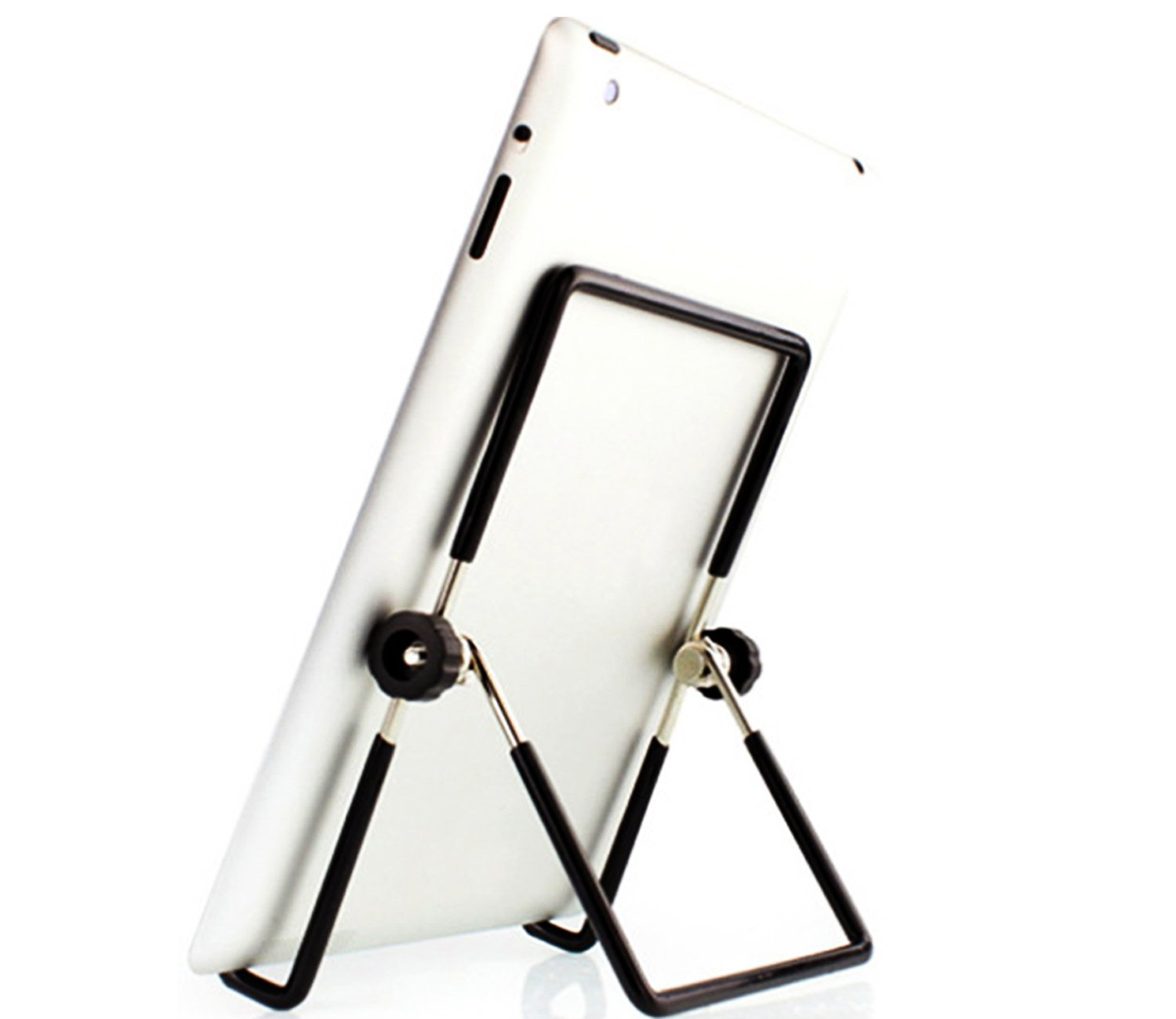 Metal Adjustable Portable Metallic Reading Book Stand Clip Holdernd (iPad / Book / Cookbook / Music Stand / Holder)
