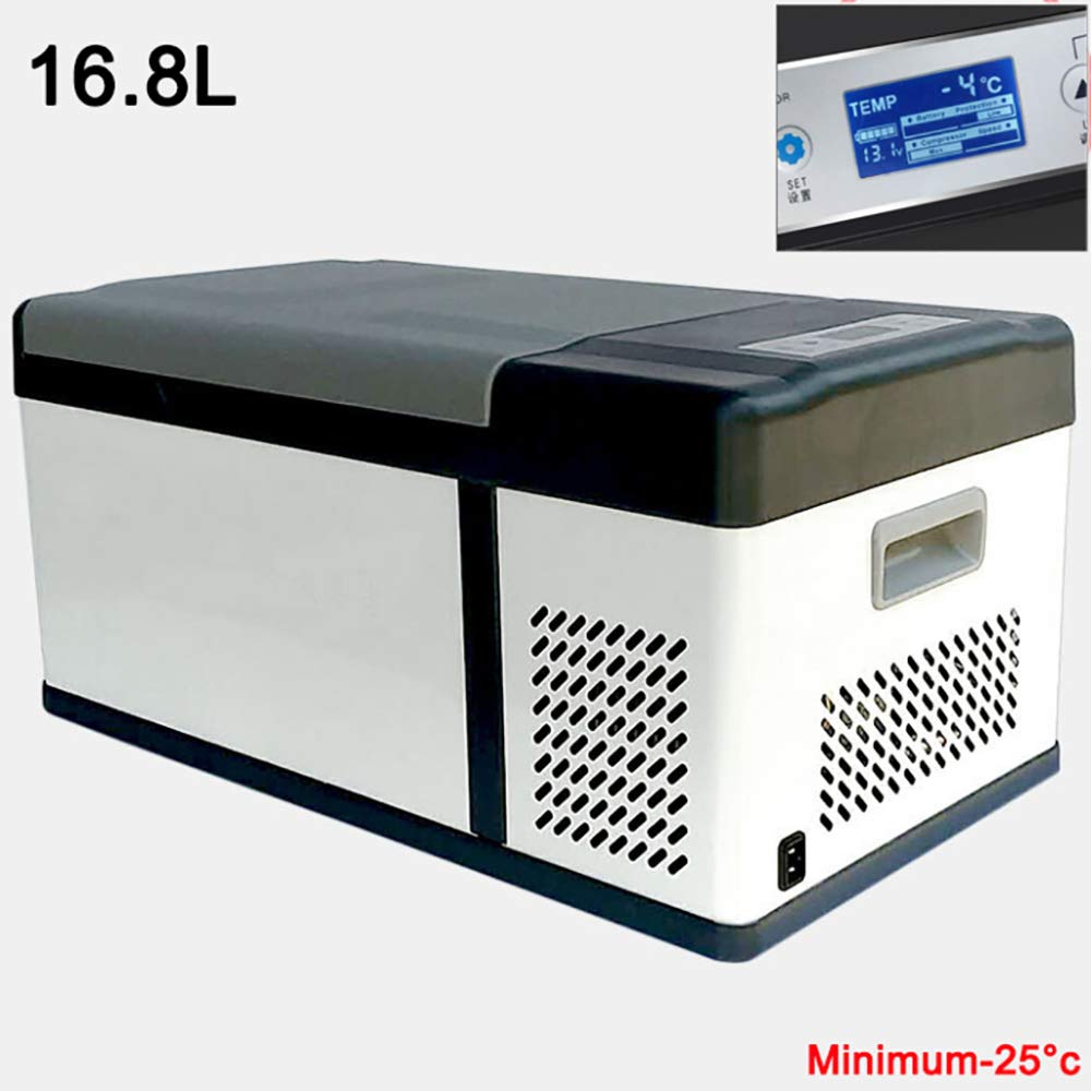 Thermoelectric Cool Box Compressor Cool Box Truck 24V 12V 110240V (16.8L) Car Mini Refrigerators Car Cooler Long Distance Driving Journeys and Camping