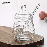 MINGZE Honey Jar Pot, con Tapa y Tapa
