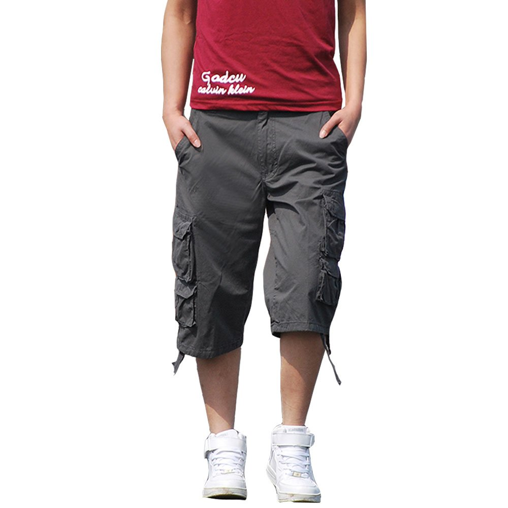 HHGKED Men's Cargo Cotton Summer Shorts Big and Tall Size Short Pants