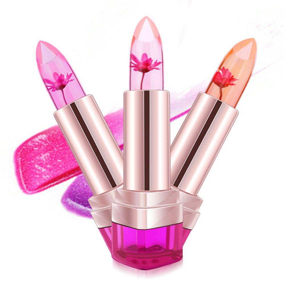 2016 New HengFang Jelly Style Lipstick Temperature-changed Lip Balm Wednesday Moisturizer Lips 3pcs/set