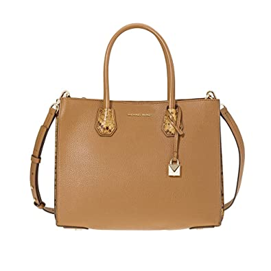 abfff8efb38d89 Amazon.com: Michael Kors Mercer Large Pebbled Leather Accordion Tote-Acorn:  Shoes
