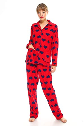 a8b66510527d MarCielo Womens Fleece Pajamas