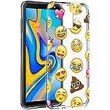 Eouine Coque Samsung Galaxy J6 2018, Etui en Silicone 3D Transparente avec Motif Fun Fantaisie