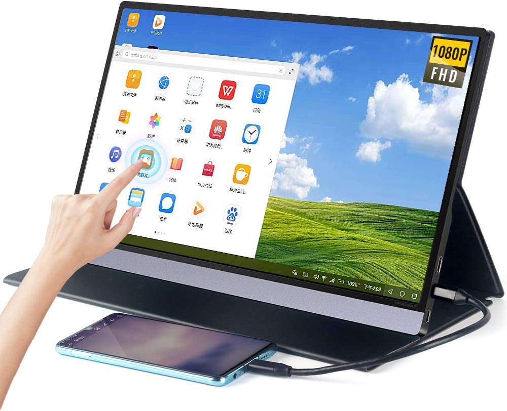 LANDZO Portable Touch Monitor, Upgraded 15.6