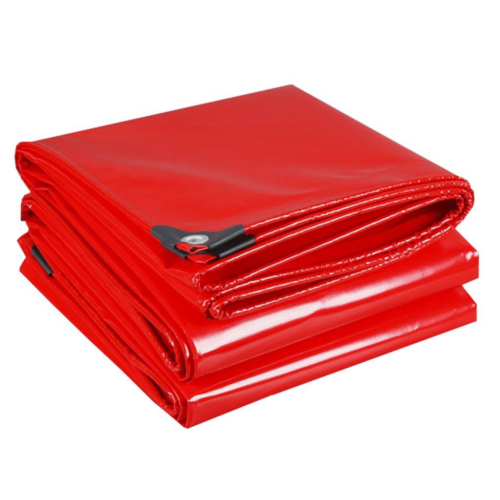Zelt Zubehör Plane Rote Plane Planen Tarnung Multifunktions Poncho für Camping Angeln Garten Sonnenschutz Kälteresistenz, Dicke 0,45 MM, 500G   m², 14 Größe erhältlich Idee für Camping Wandern