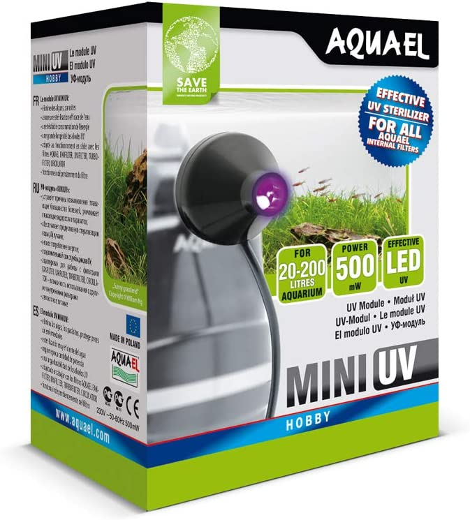 Aquael Lámpara led UV Mini 5905546133999para acuarios, 1W