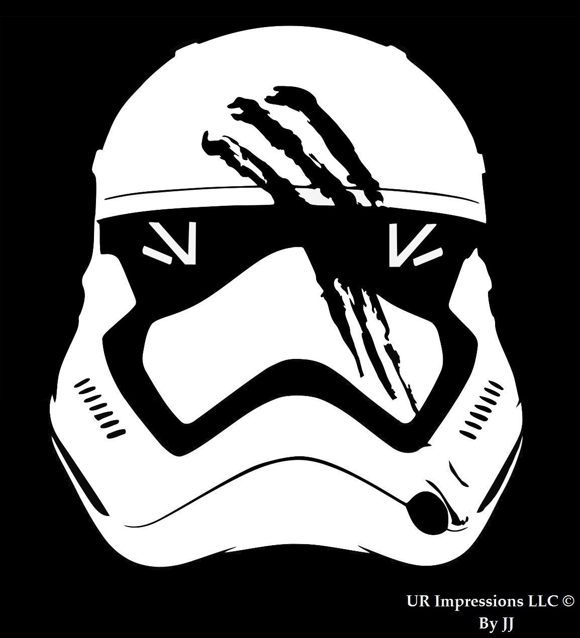 Storm Trooper Finn 's Blood SmearedヘルメットStar Wars Inspiredデカールビニールsticker|cars Trucks壁ノートパソコンtablet|white|5.5 in|jjuri003   B0762CMDWW