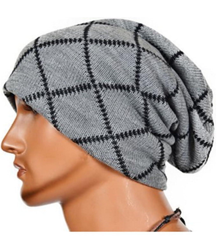 E-darter Winter Fashion Außen Stripe Acryl Knit Hip-hop Hut Cap für Männer