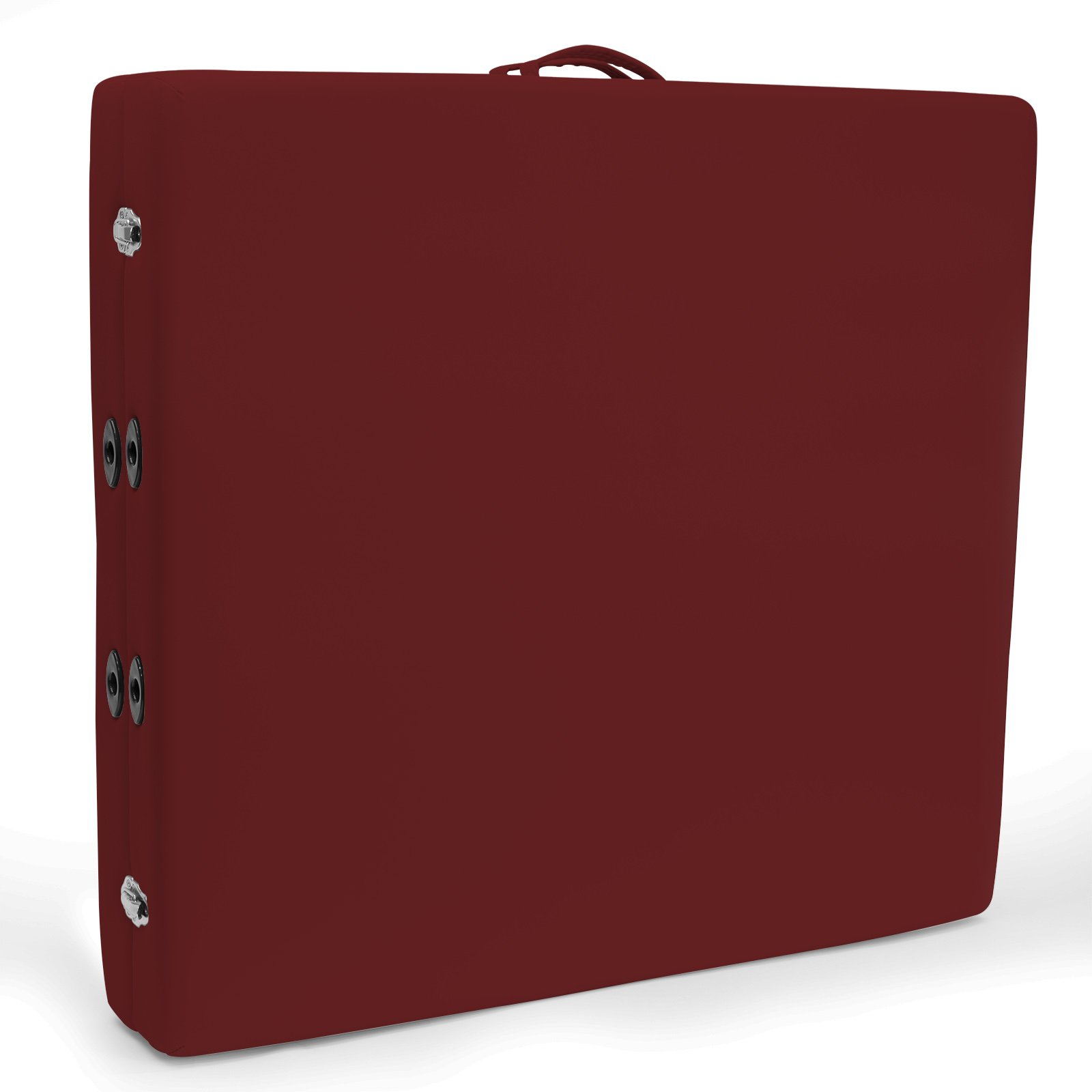 Saloniture Portable Physical Therapy Massage Table - Low to Ground Stretching Treatment Mat Platform - Burgundy by Saloniture (Image #3)