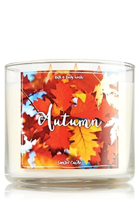Bath and Body Works Autumn Candle - Autumn Scent 14.5 oz Large 3-wick Candle