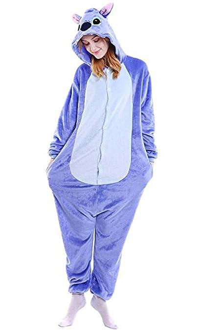 WOWcosplay Jumpsuit Tier Cartoon Fasching Halloween Kost¨¹m Sleepsuit Cosplay Fleece-Overall Pyjama Schlafanzug Erwachsene Un