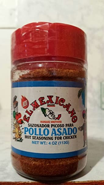 El Mexicano Brand Pollo Asado Hot Seasoning - 4 Oz Jar