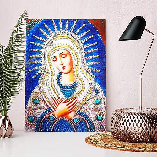 Special Shaped Diamond Painting Madonna - Franterd DIY 5D Partial Drill Cross Stitch Kits Crystal Rhinestone of Picture Diamond Embroidery Mosaic Arts Craft Home Wall Decor by Franterd Home Decor (Image #5)