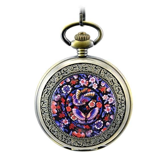 Anna & Joe plantilla Clavijas Vintage Flip reloj Lady reloj de bolsillo Grado retro-uomo
