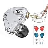 NICEHCK NX7 PRO カナル型イヤホン バランスドアーマチュア型ドライバー4基+2DD(複合カーボンナノチューブダイナミック) + 1セラミック振動板ドライバー 片側に7基のドライバーユニット 交換可能なフィルターとフェイスプレート 2pinリケーブル着脱式 ハイブリット 耳掛け式3.5mmプラグ 高音質 高遮音性 高解像度 HIFI 16芯高純度無酸素銅ケーブル付属 IEM (マイクなし, NX7 Pro)
