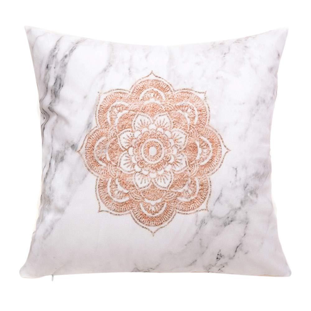 Hongxin Pillow Case,1PC 45×45cm Flannel Simple Upholstery Cushion Cover Flannelette Throw Pillow Cases Home Decor (C, 45×45cm)