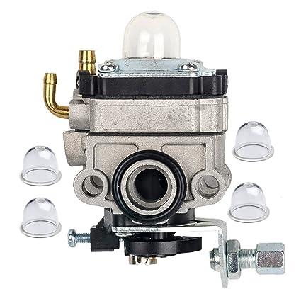 Amazon.com: hifrom Carburador Carb con 4 Primer Blub para ...