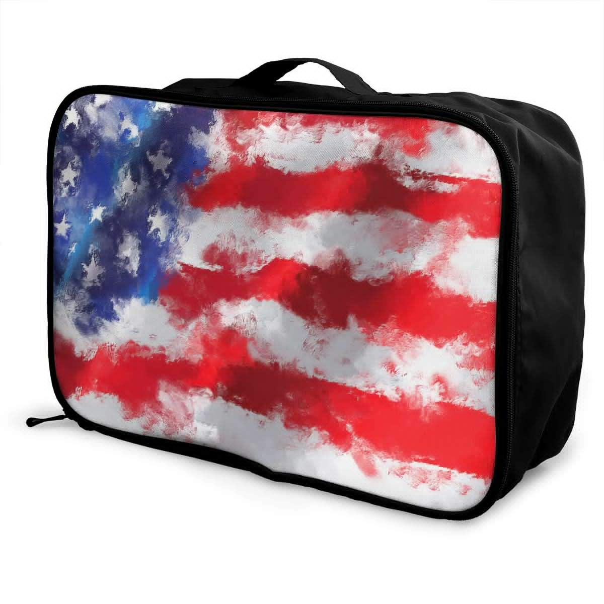 Travel Luggage Duffle Bag Lightweight Portable Handbag National Flag Day Large Capacity Waterproof Foldable Storage Tote