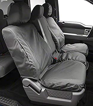 Covercraft Carhartt SeatSaver Front Row Custom Fit Seat Cover for Select Chevrolet//GMC Models Gravel Duck Weave