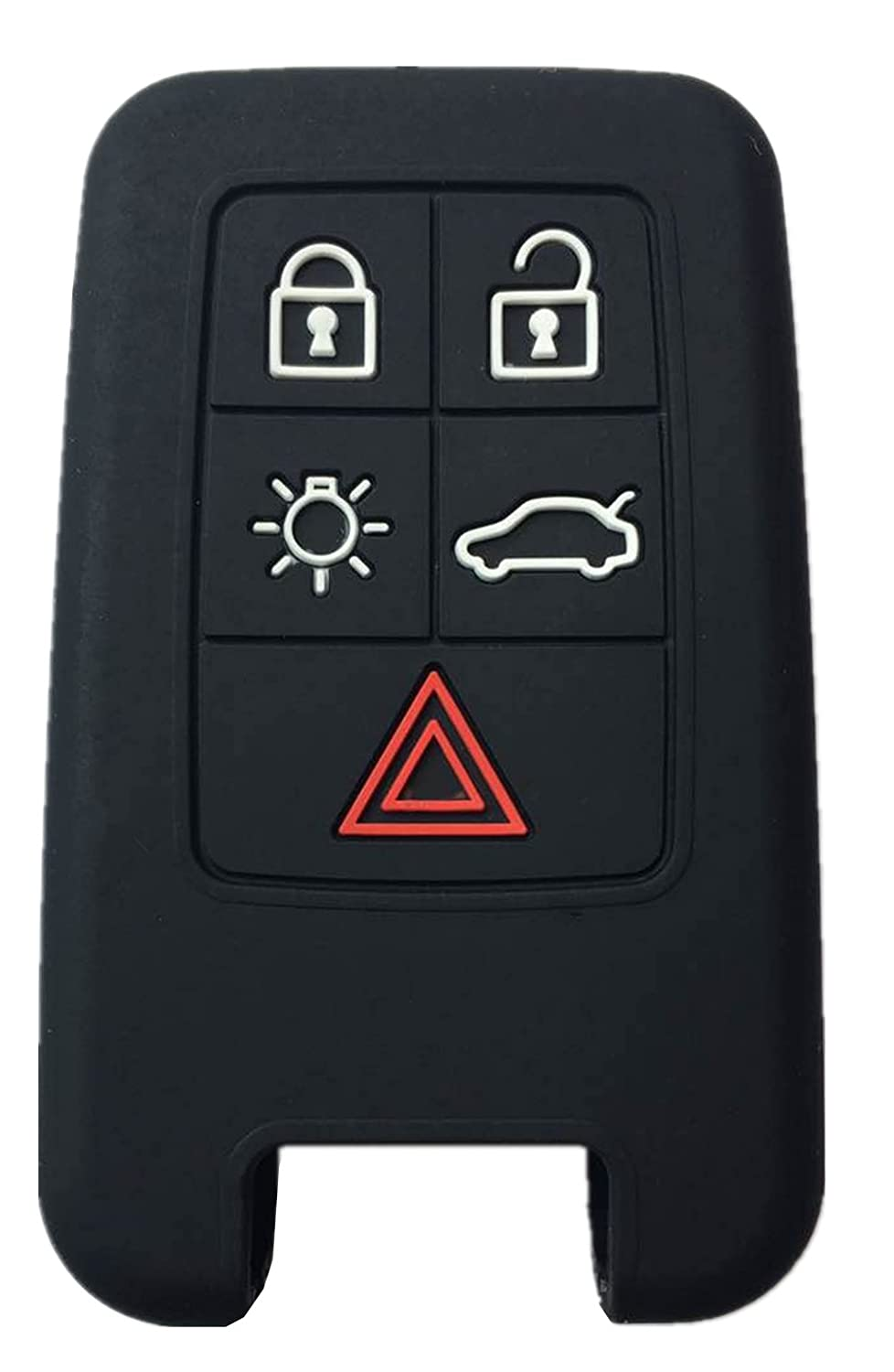 Rpkey Silicone Keyless Entry Remote Control Key Fob Cover Case protector For 5 Button Volvo S60 S80 V60 V70 XC60 XC70 KR55WK49266 KR55WK49264 ASD