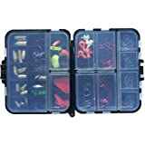Sea fishing 128 pieces of fishing Gadgets with 22 fishing net storage box a full range of accessories fish hook lead…