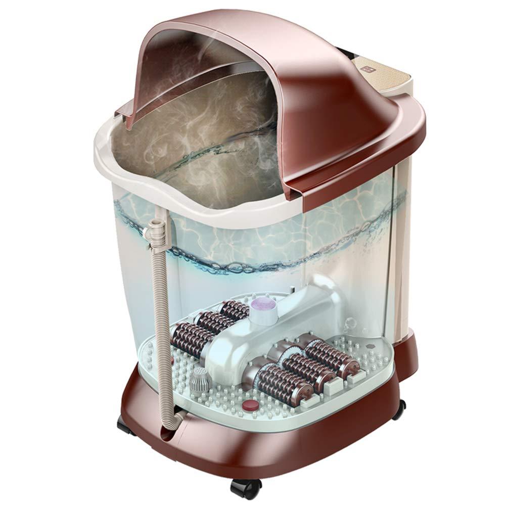 フットバス マッサー ジャー,自動 足湯 熱を持つ,6 Masssaging ローラー 赤外線を和らげる 燻蒸 家計 デトックス 足浴槽-a 45x32x67cm(18x13x26inch) B07SBGR65R A 45x32x67cm(18x13x26inch)