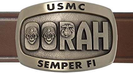 MADE IN USA United States ARMY Military Belt Buckle Pewter HAND PAINTED
